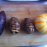 纯手工芋圆红豆刨冰的做法图解1