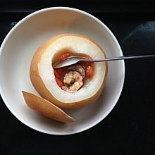 冰糖红枣枸杞炖雪梨
