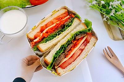 中西合璧之酱牛肉三明治