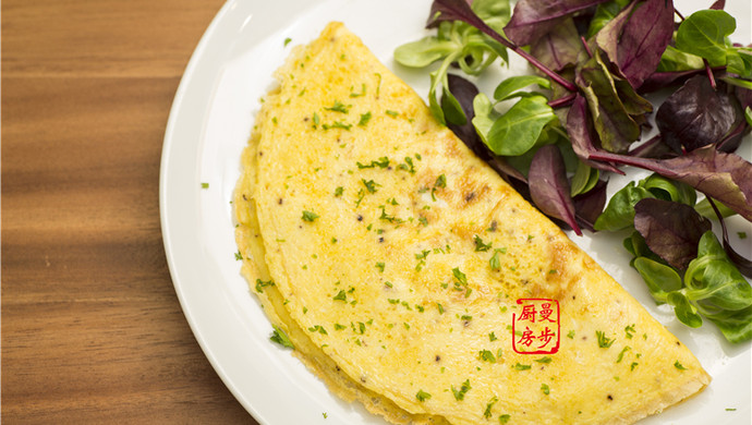 【曼步厨房】快手早餐 - 烟熏三文鱼蛋饼