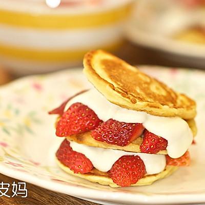【老皮的亲子厨房】草莓煎饼