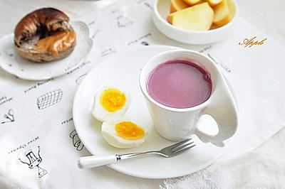 紫薯红糙米糊