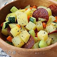 快手早餐--土豆杂蔬