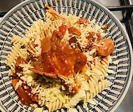 番茄培根鸡腿 意面的做法