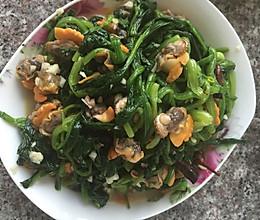 毛蚶子拌菠菜的做法