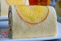 香橙戚风奶油蛋糕卷#豆果5周年#的做法