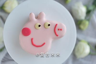 佩奇草莓慕斯蛋糕