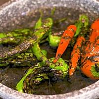 烧辣椒皮蛋!虎皮青椒和凉拌皮蛋合体,居然好吃到犯规?的做法图解5
