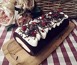 蔓越莓可可戚风蛋糕卷的做法