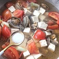 西红柿蛤蜊豆腐汤的做法图解8