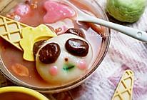 熊猫水果汤圆的做法