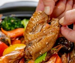 啤酒鸡翅海鲜煲|鲜香下饭的做法