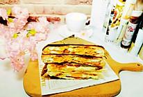 #爱乐甜夏日轻脂甜蜜#营养美味~鸡蛋肉松火腿三明治的做法