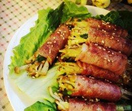 金针菇培根卷—懒人版不用烤箱的做法