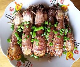 椒盐撒尿虾的做法