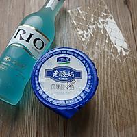 蓝天白云鸡尾酒冻#七彩七夕#的做法图解1