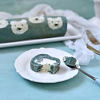 蝶豆花小熊日式棉花蛋糕卷的做法图解22