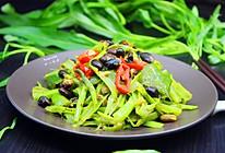 时令家常菜,豆豉炒通菜梗的做法