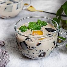 #入秋滋补正当时# 仙草芋圆奶茶