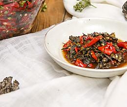 韭菜花腌干巴菌 美食台的做法