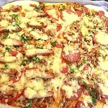 奥尔良鸡肉&火腿双拼披萨