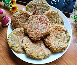 快手早餐饼❗️鸡胸肉蔬菜饼的做法
