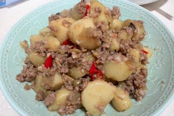 肉末土豆的做法