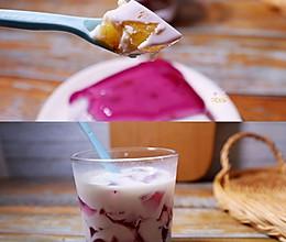 网红葡萄撞奶❗️(两种做法)葡萄椰奶冻  ❗️(白凉粉版)的做法