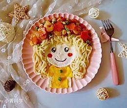 可爱的花环娃娃创意面条#单挑夏天#的做法