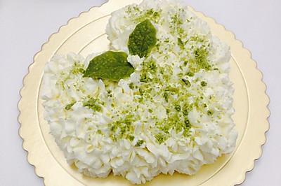 奶油小清新--柠檬戚风水果夹层奶油蛋糕