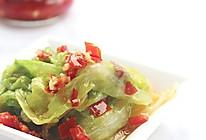 剁椒卷生菜的做法