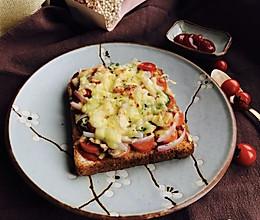 首农宝宝蛋--面包片披萨的做法