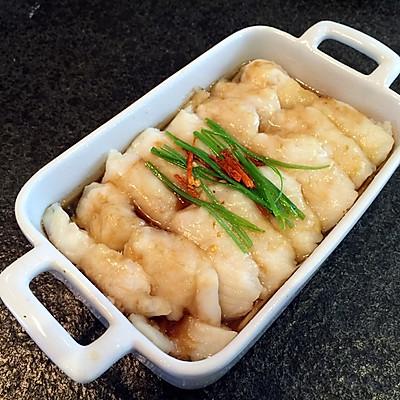 龍利魚蒸金針菇