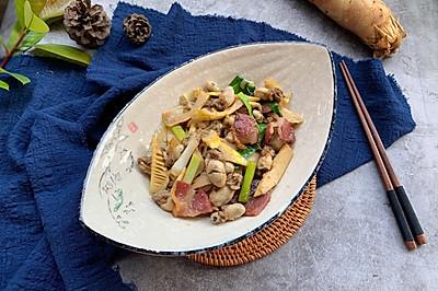 大蒜牡蛎炒笋