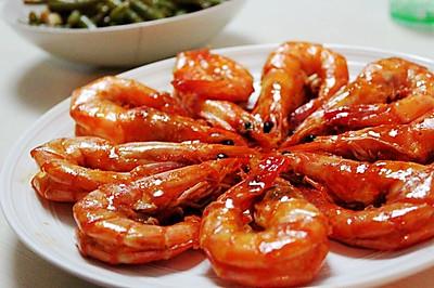 茄汁焖大虾