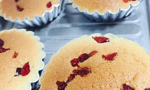 快手蛋糕  蔓越莓小蛋糕的做法