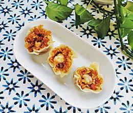 饺子皮版虾仁烧卖的做法