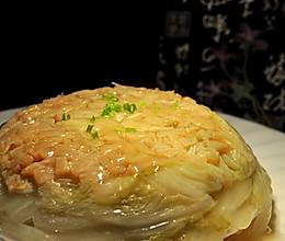 干贝蒸白菜的做法
