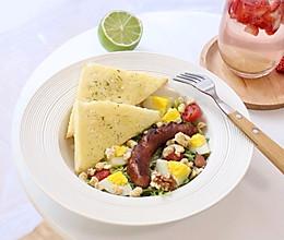 #做道好菜,自我宠爱!#吃好早餐,愉快一天,法香蜂蜜黄油吐司的做法