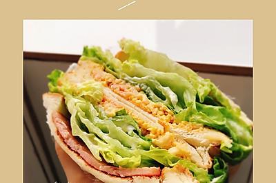 #换着花样吃早餐#新配方!蟹味滑蛋三明治