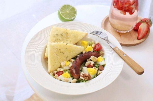 吃好早餐,愉快一天,法香蜂蜜黄油吐司的做法