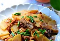 肉片泡菜土豆片的做法