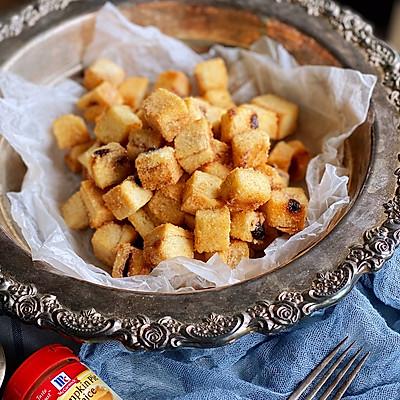 肉桂骰子吐司丁—消耗老化吐司