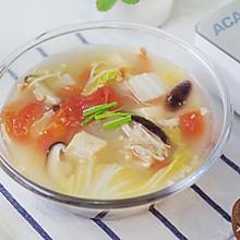 减脂番茄蘑菇蔬菜汤,一个星期瘦五斤#洗手做羹汤#