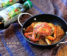大闸蟹粉丝煲:菁选酱油试用的做法