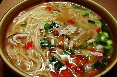 家乐上菜,爱上家常味之暖身浓汤面条