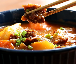 番茄土豆炖牛腩,有了它我可以吃3碗饭!的做法