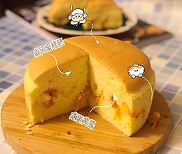 (水浴法)㊙️超级无敌好吃的【金沙咸蛋黄肉松蛋糕】的做法