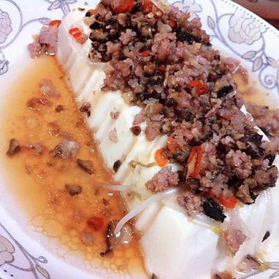 肉末蒸水豆腐
