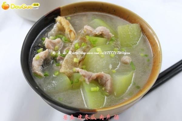 柴鱼皮冬瓜肉片汤的做法